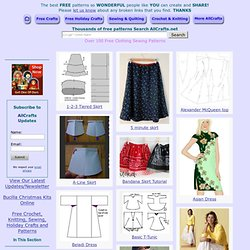 Over 100 Free Clothing Sewing Patterns at AllCrafts.net - Free Crafts Network