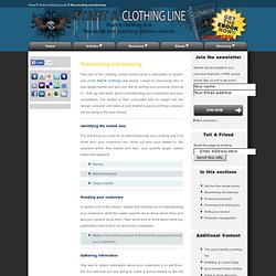 online clothing course researching and planning