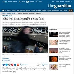 M&S clothing sales suffer spring falls