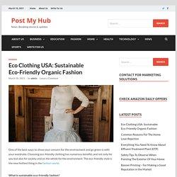 Eco Clothing USA: Sustainable Eco-Friendly Organic Fashion