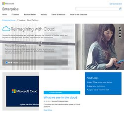 Cloud Computing | Productivity Tools | Cloud Hosting | Microsoft Cloud