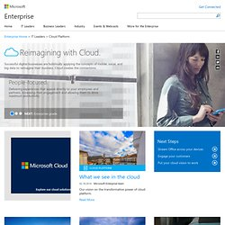 Cloud Computing: Microsoft's Viewpoint
