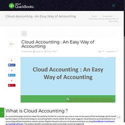 Cloud Accounting : An Easy Way of Accounting-Call 1800-945-0645 now