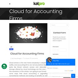 Cloud for Accounting Firms - Katpro