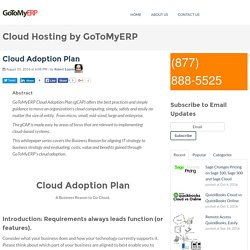 Cloud Adoption Plan