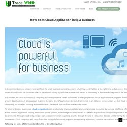 How does Cloud Application help a Business