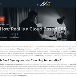 How Real is a Cloud Based ERP - Atheer Global Solutions
