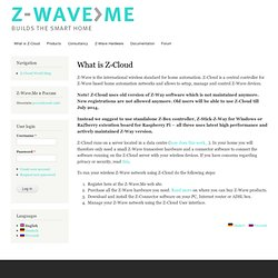 What is Z-Cloud | Z-Wave home automation solutions