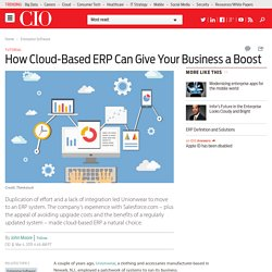 How cloud-based ERP can give your business a boost