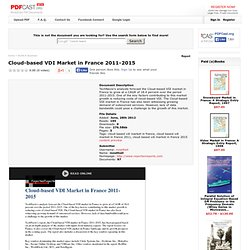 Cloud-based VDI Market in France 2011-2015