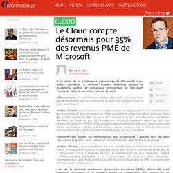 Le Cloud compte désormais pour 35% des revenus PME de Microsoft