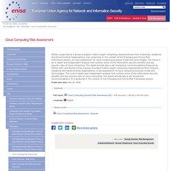 Cloud Computing Risk Assessment