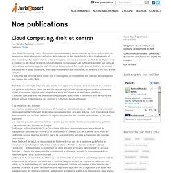 Cloud Computing, droit et contrat