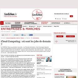 Cloud Computing : où sont les jobs de demain
