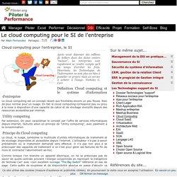 Le cloud computing pour le SI de l'entreprise