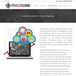 Cloud Computing Leads - ITSalesLeads