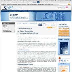 Le Cloud Computing: 3 - Le marché et les acteurs