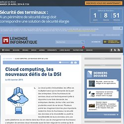 Cloud computing, les nouveaux défis de la DSI -