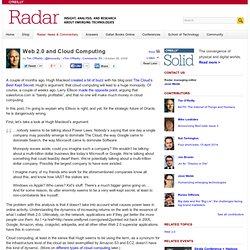 Web 2.0 and Cloud Computing - O'Reilly Radar
