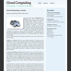 Cloud Computing SaaS, PaaS, IaaS