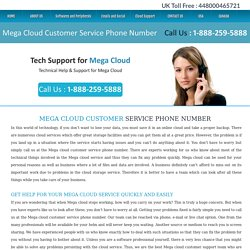 Mega Cloud Customer Service Phone Number