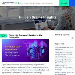 Cloud, Big Data and DevOps in the Enterprise