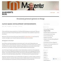 Cloud Based Development Environments