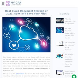 Best Cloud Document Storage of 2021: Sync and Save Your Files
