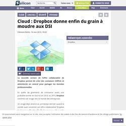 Cloud : Dropbox donne enfin du grain à moudre aux DSI