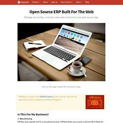 Online ERP, Open Source ERP, Cloud, SaaS ERP - ERPNext