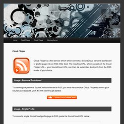 Cloud Flipper: Free SoundCloud to RSS Converter