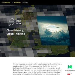 Cloud History, Cloud Thinking — Cloud Index — James Bridle