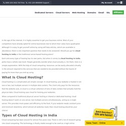 Cloud Hosting In India