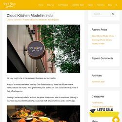 Cloud Kitchen Model in India – The Rolling Plate