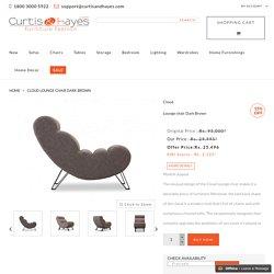 Buy Cloud Lounge chair Dark Brown online at best price.