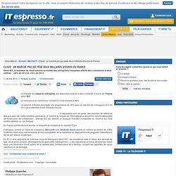 Cloud : un marché pro qui pèse deux milliards d'euros en France