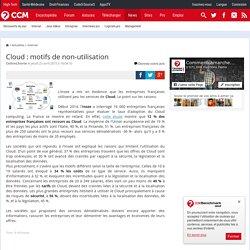 Cloud : motifs de non-utilisation
