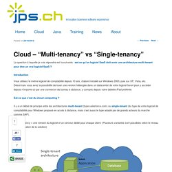 "Cloud – ""Multi-tenancy"" vs ""Single-tenancy"""