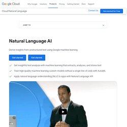 Cloud Natural Language API