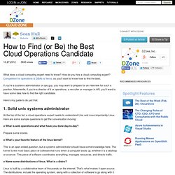 How to Find (or Be) the Best Cloud Operations Candidate