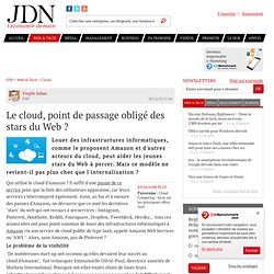 Le cloud, point de passage obligé des stars du Web