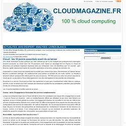 Cloud : les 10 points essentiels avant de se lancer