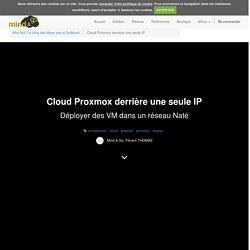 Cloud Proxmox derrière une seule IP