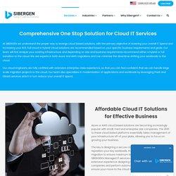 Cloud services - SIBERGEN Technologies