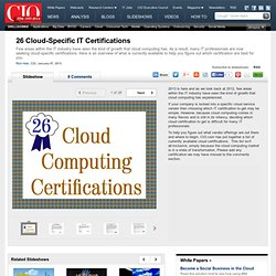 26 Cloud-Specific IT Certifications CIO