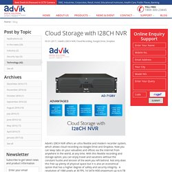 Cloud Storage with I28CH NVR