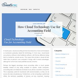 How Cloud Technology Use for Accounting Field