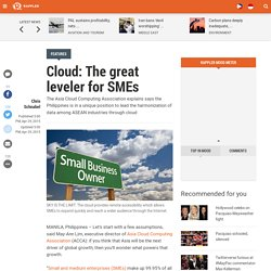 Cloud: The great leveler for SMEs