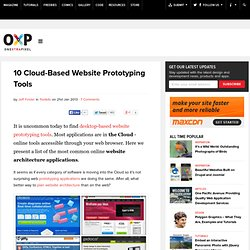 10 Cloud-Based Website Prototyping Tools