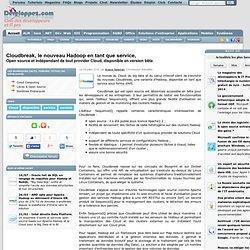 Cloudbreak, le nouveau Hadoop en tant que service, open source et indépendant de tout provider Cloud, disponible en version bêta